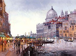 Venetian Lovesong by Henderson Cisz - Canvas on Board sized 19x14 inches. Available from Whitewall Galleries